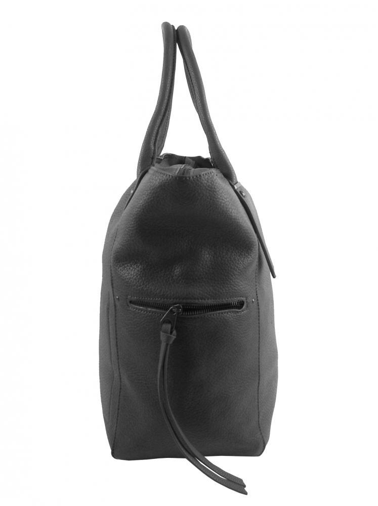 Veľká tmavo sivá dámska kabelka 5054-TS