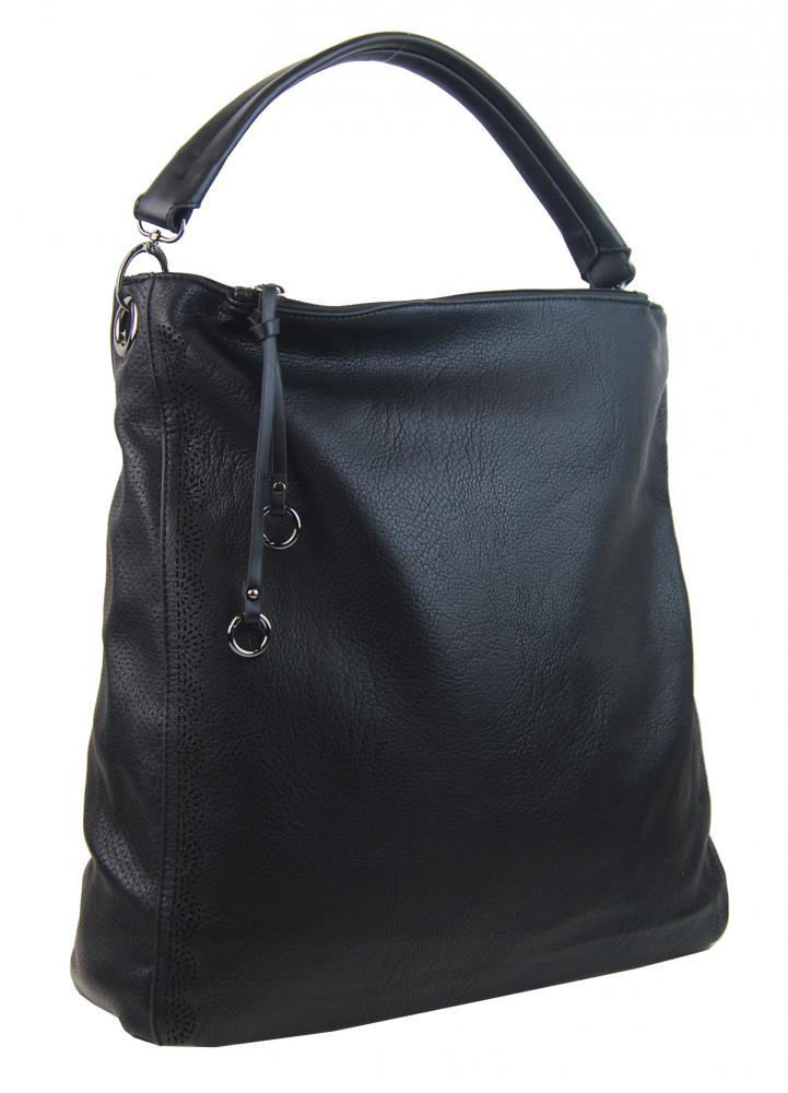 VEĽKÁ moderná dámska kabelka 5134-BB čierna