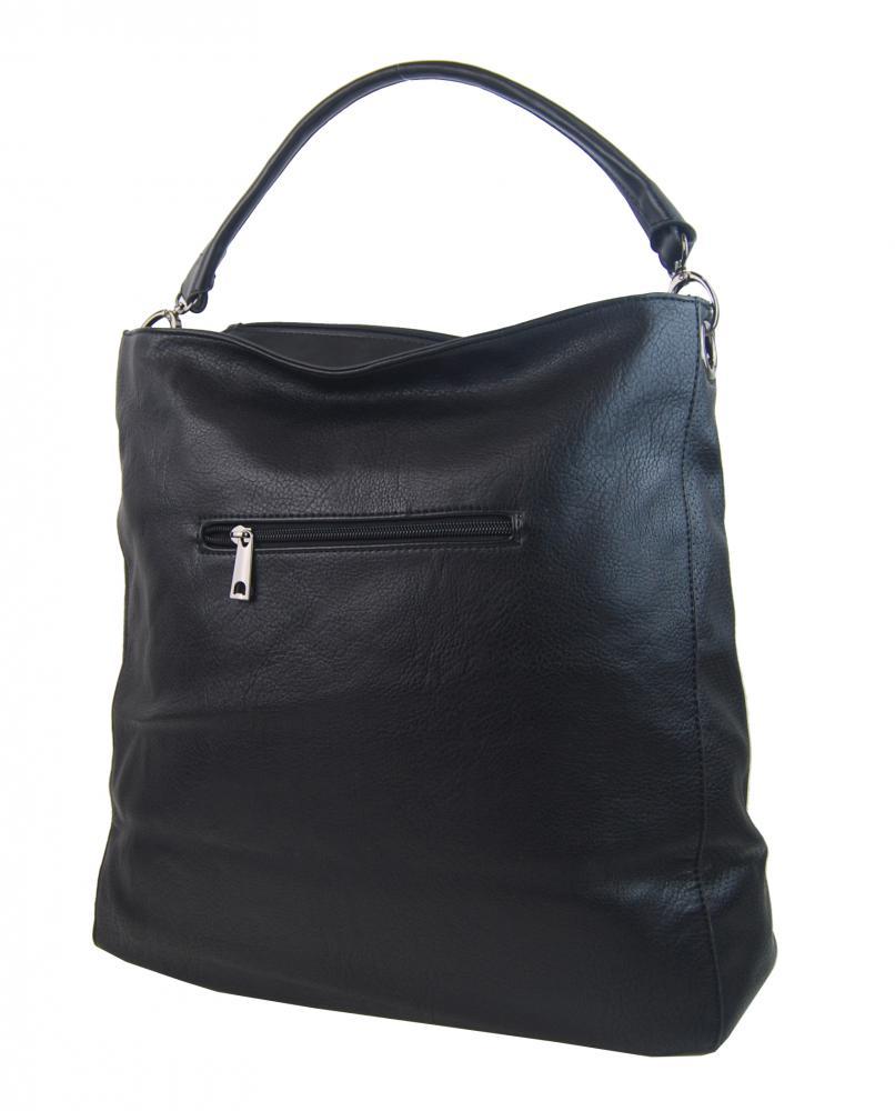 VELKÁ moderní dámská kabelka 5134-BB černá