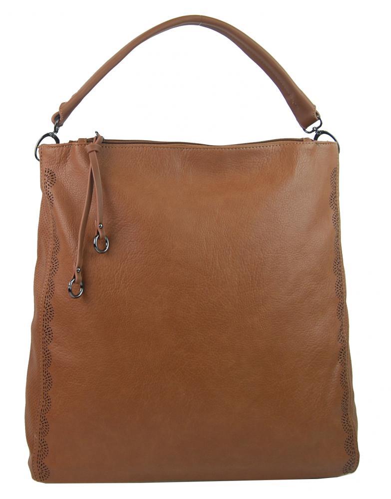 VELKÁ moderní dámská kabelka 5134-BB hnědá