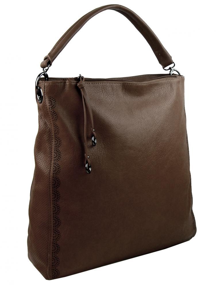 VEĽKÁ moderná dámska kabelka 5134-BB kávovo hnedá