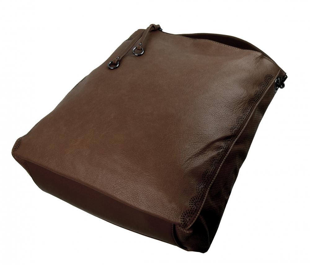 VELKÁ moderní dámská kabelka 5134-BB kávová hnědá