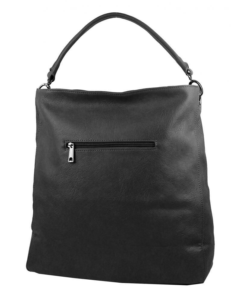 VEĽKÁ moderná dámska kabelka 5134-BB tmavo šedá