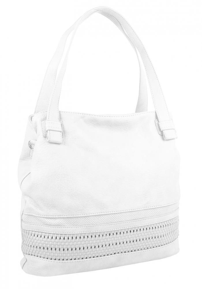 Biela praktická dámska kabelka cez plece 5407-BB