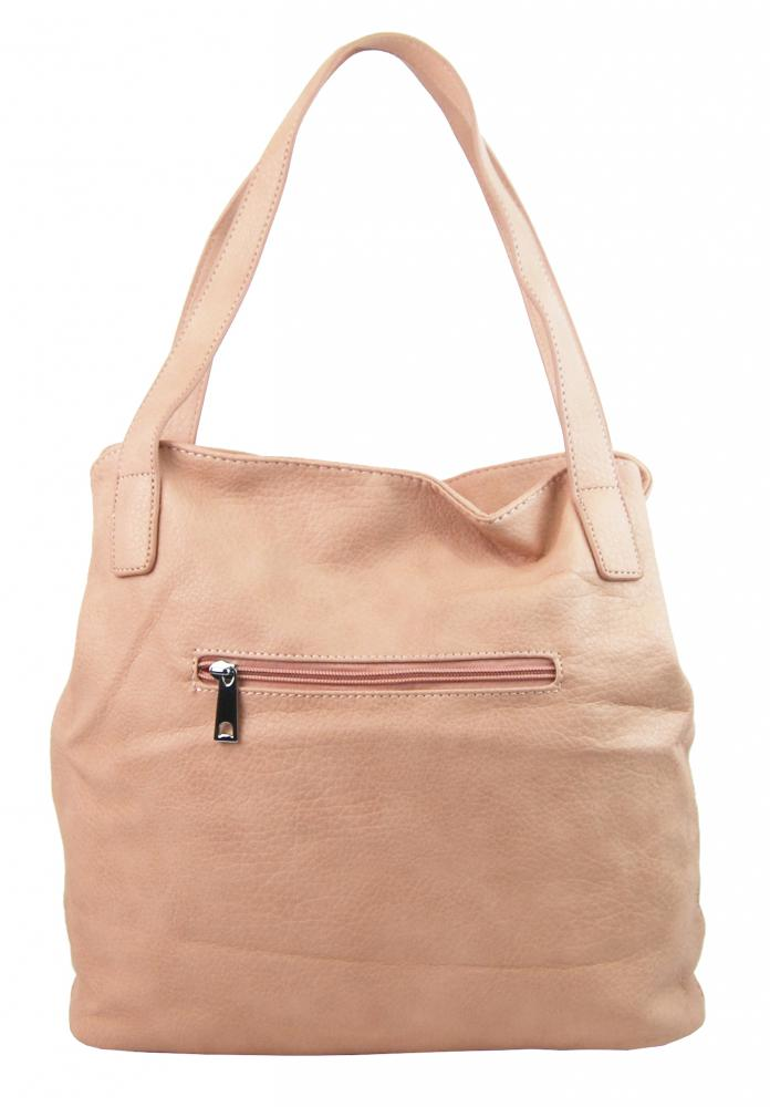 Ružová praktická dámska kabelka cez plece 5407-BB