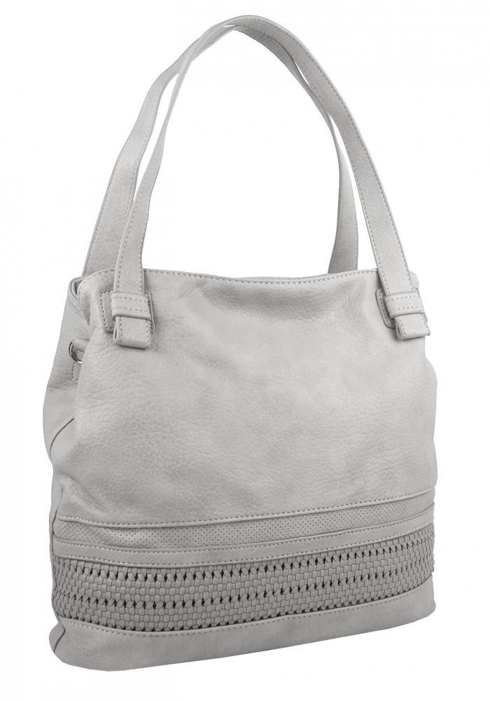 BELLA BELLY dámská kabelka přes rameno světlá šedá 5407-BB