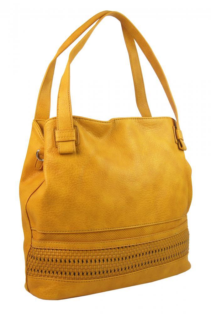 Žltá praktická dámska kabelka cez plece 5407-BB