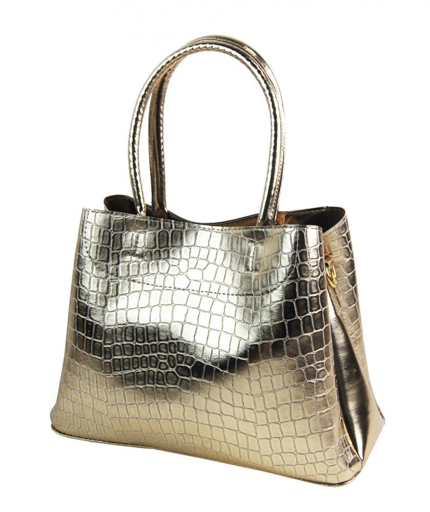 Zlatá elegantní kroko dámská kabelka S750 GROSSO