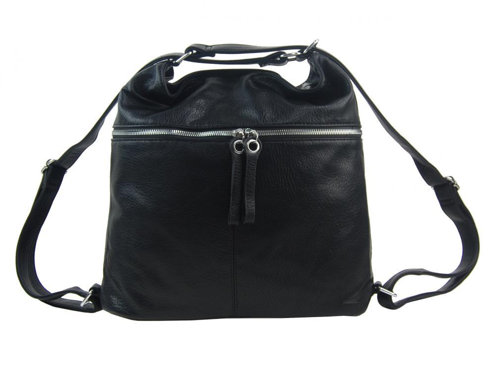 Veľká dámska kabelka cez rameno / ruksak vínová červená
