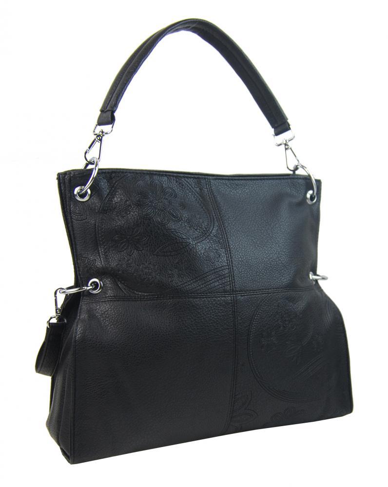 Veľká ľubovoľne nositeľná dámska kabelka 5381-BB čierna