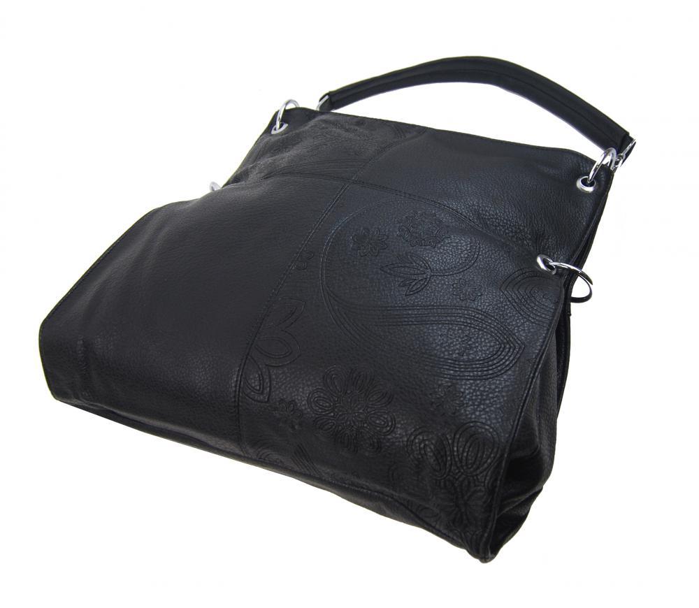 Velká libovolně nositelná dámská kabelka 5381-BB černá