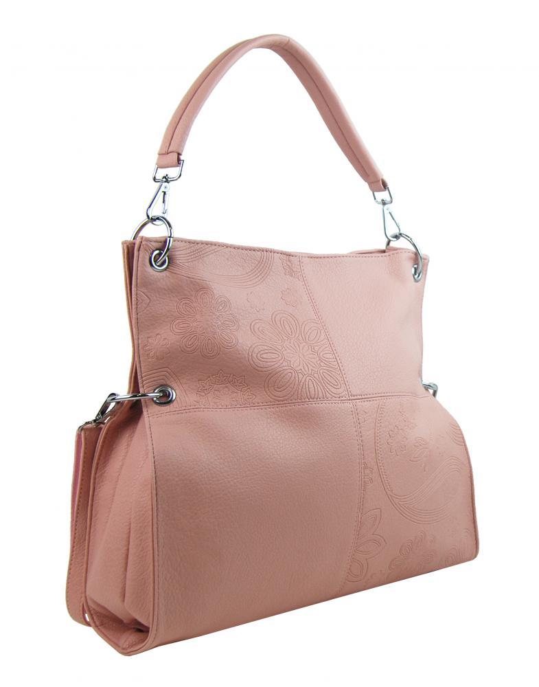 Velká libovolně nositelná dámská kabelka 5381-BB růžová