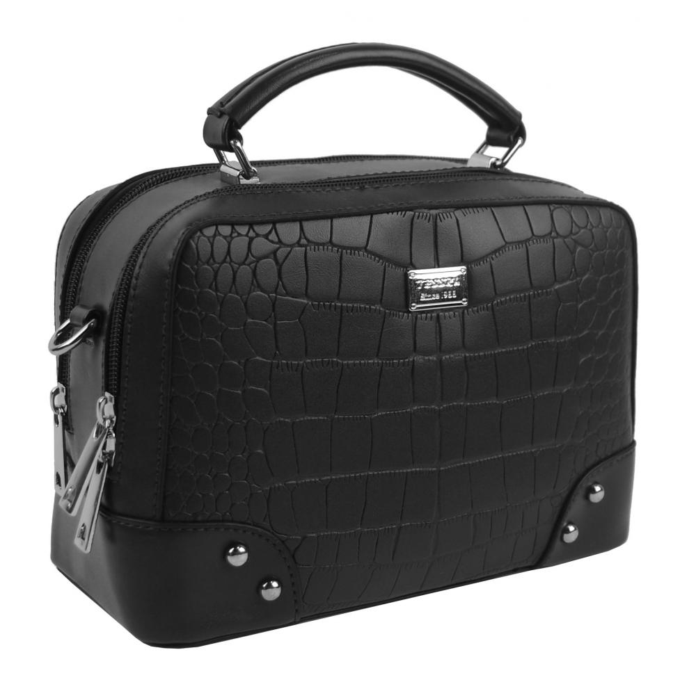 Crossbody i do ruky dámská kabelka černá 4881-TS