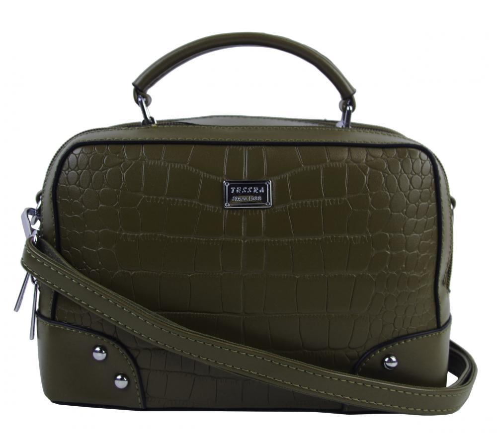 Crossbody i do ruky dámská kabelka tmavě zelená 4881-TS