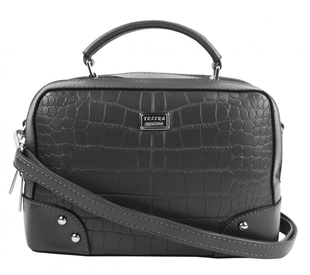 Crossbody i do ruky dámská kabelka tmavě šedá 4881-TS