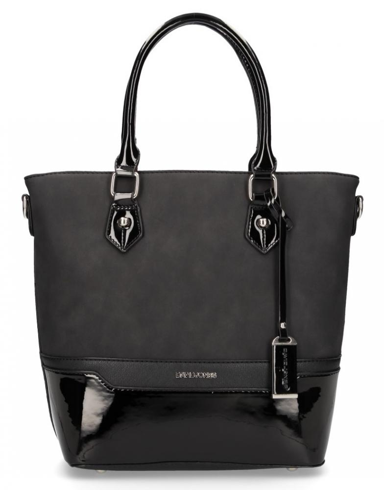 Čierna originálna dámska kabelka do ruky David Jones