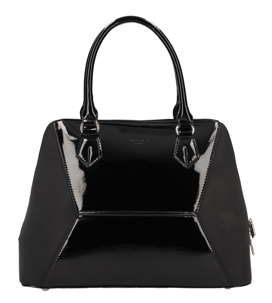 Čierna nadčasová dámska kabelka do ruky David Jones