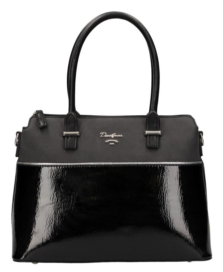 Čierna dámska elegantná kabelka David Jones