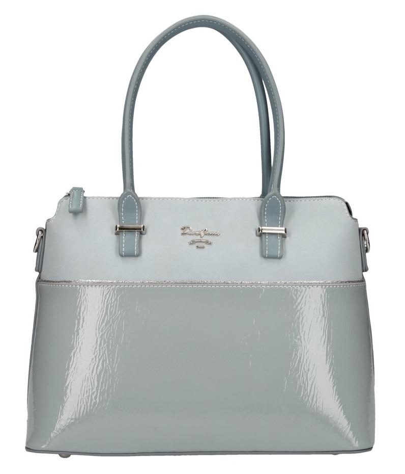 Světle modrá dámská elegantní kabelka David Jones 5930-2