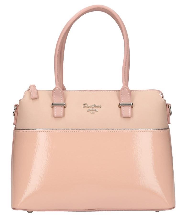 Růžová dámská elegantní kabelka David Jones