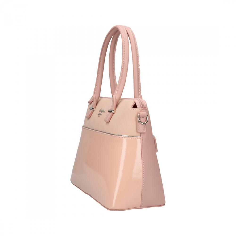 be65d31dc6 Ružová dámska elegantná kabelka David Jones