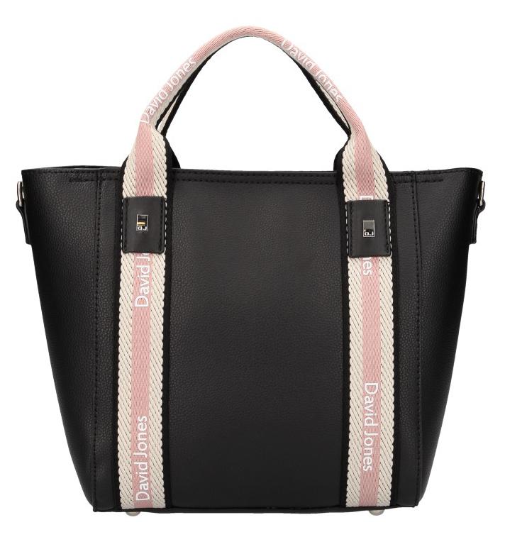 David Jones moderná čierna dámska kabelka v športovom dizajne