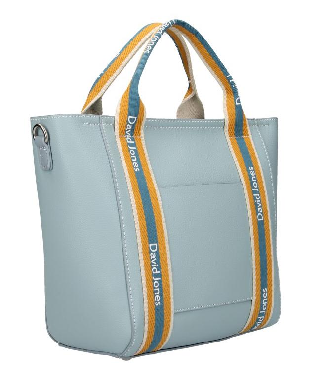 David Jones moderná svetlo modrá dámska kabelka v športovom dizajne