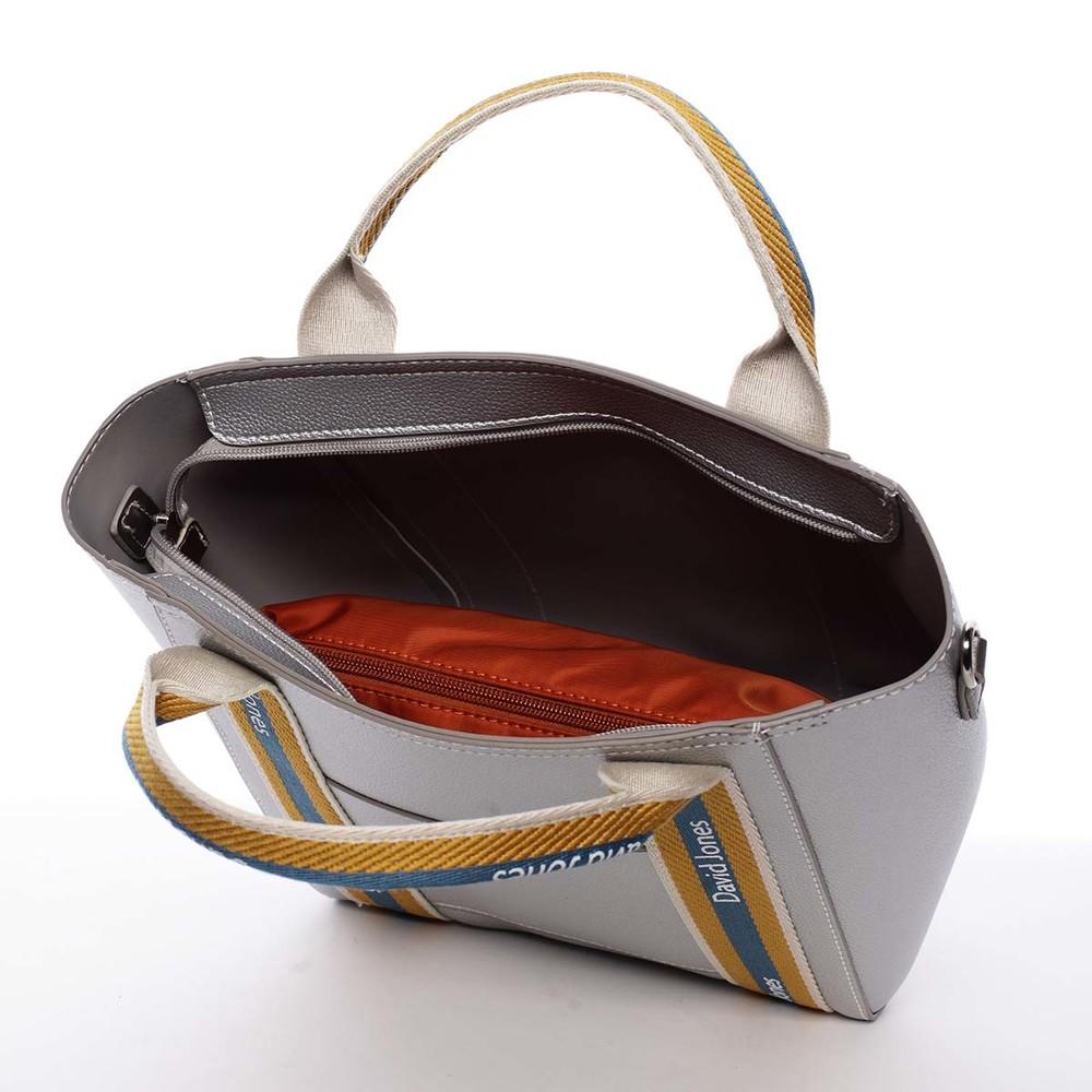 David Jones moderní stříbrná dámská kabelka ve sportovním designu 5933-2