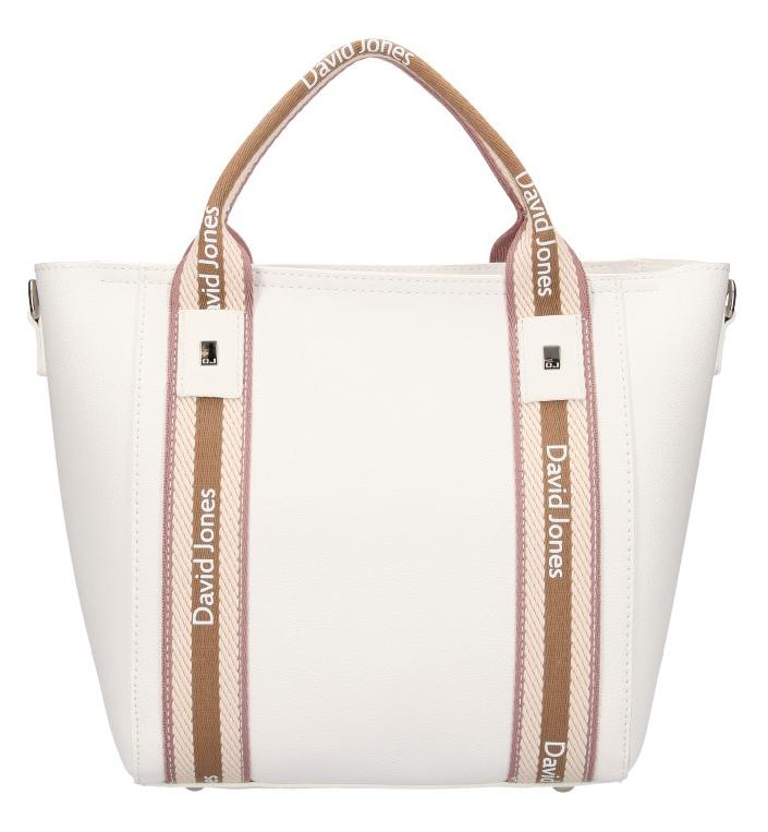 David Jones moderná biela dámska kabelka v športovom dizajne