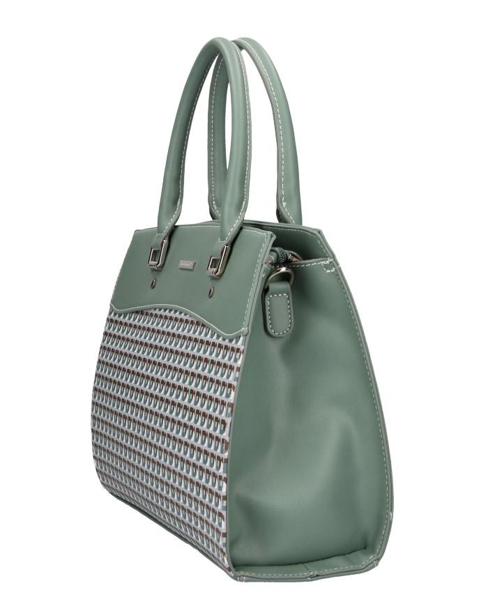 David Jones zelená dámska kabelka do ruky
