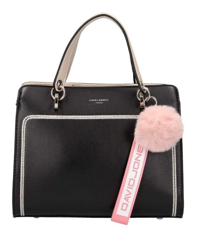 Černá dámská kabelka ve sportovním designu David Jones