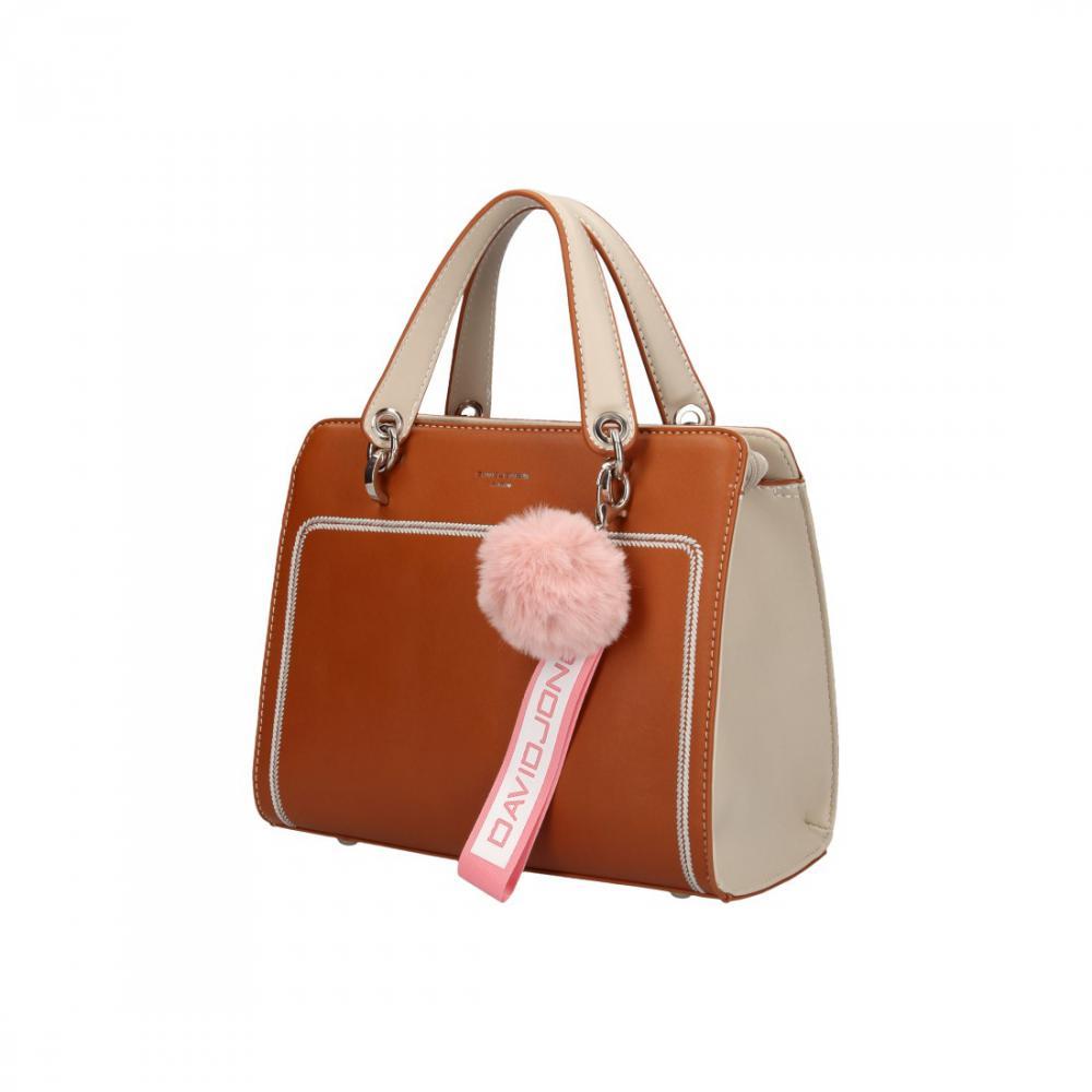 Hnědá dámská kabelka ve sportovním designu David Jones 5993-2