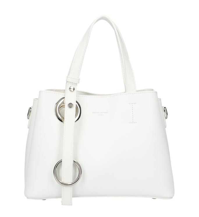 DAVID JONES 6278-2 Atraktívna menšia dámska kabelka do ruky - biela