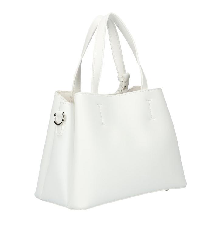 DAVID JONES Atraktívna menšia biela dámska kabelka do ruky 6278-2