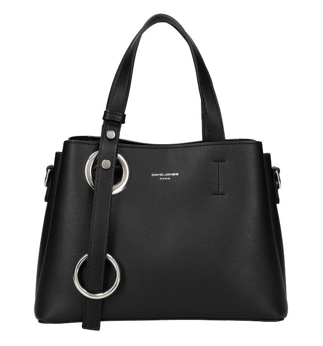 DAVID JONES 6278-2 Atraktívna menšia dámska kabelka do ruky - čierna