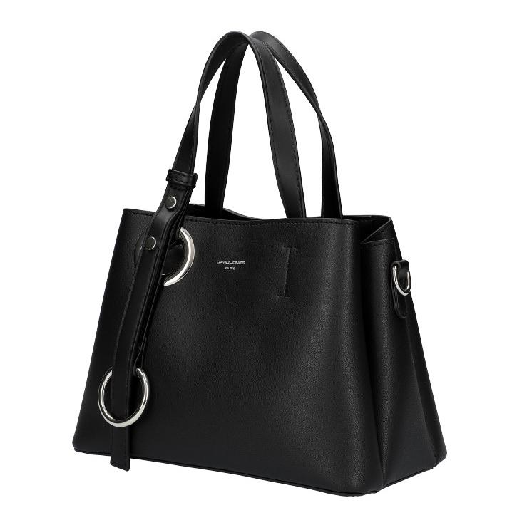 DAVID JONES Atraktívna menšia čierna dámska kabelka do ruky 6278-2