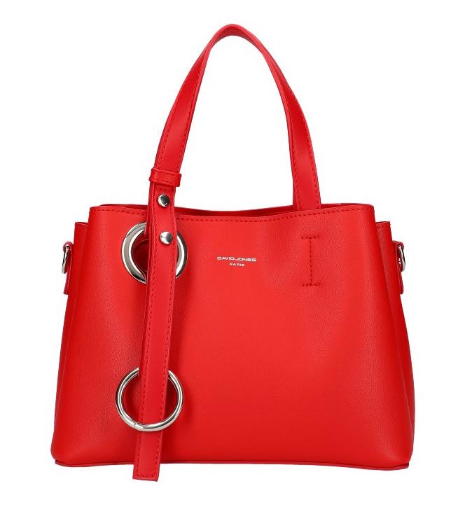 DAVID JONES Atraktivní menší červená dámská kabelka do ruky 6278-2