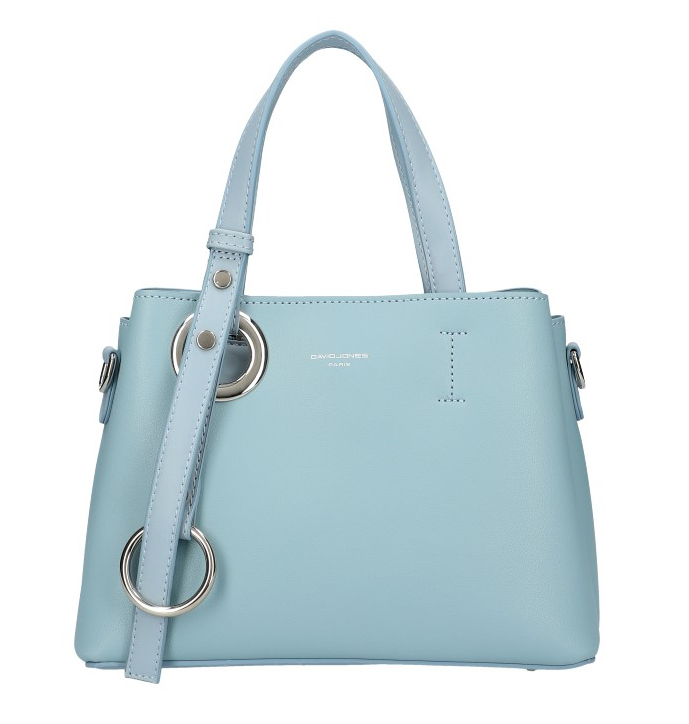 DAVID JONES Atraktivní menší světle modrá dámská kabelka do ruky 6278-2