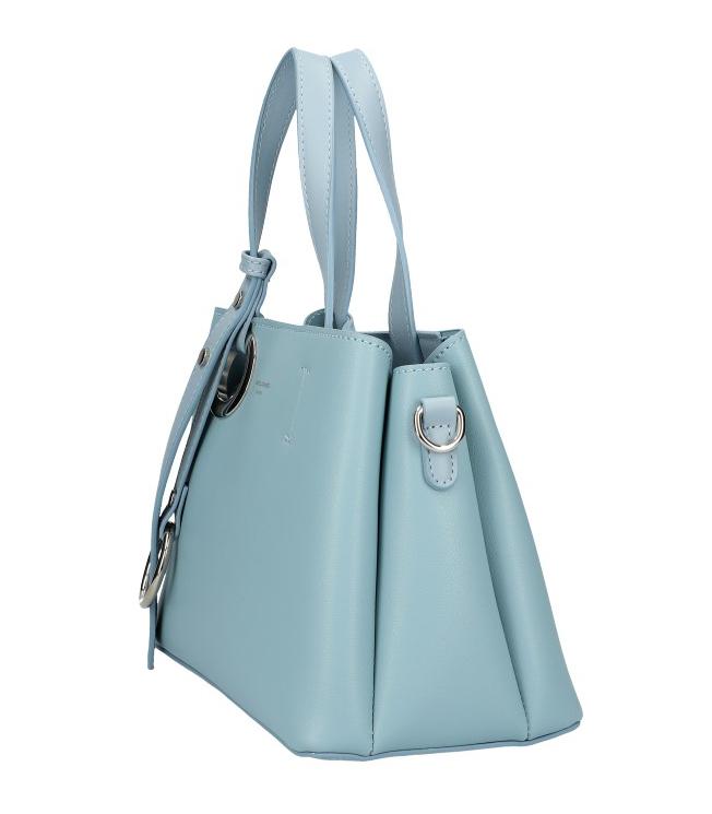 DAVID JONES Atraktívna menšia svetlo modrá dámska kabelka do ruky 6278-2