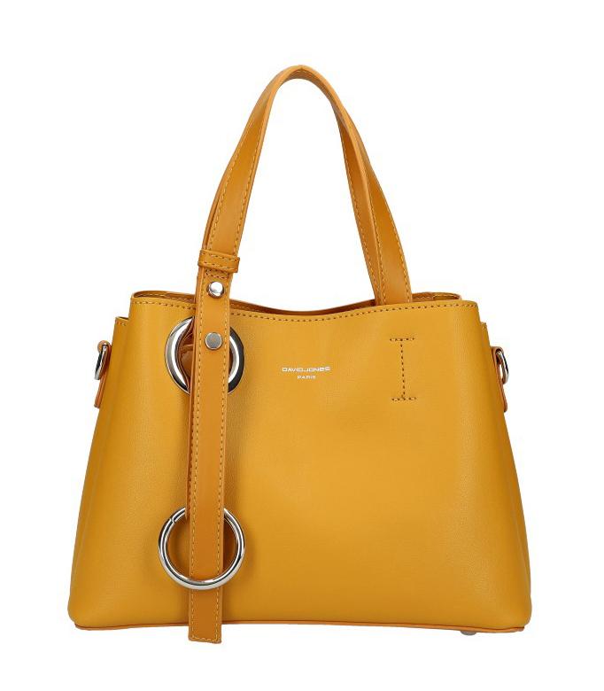 DAVID JONES Atraktívna menšia žltá dámska kabelka do ruky 6278-2