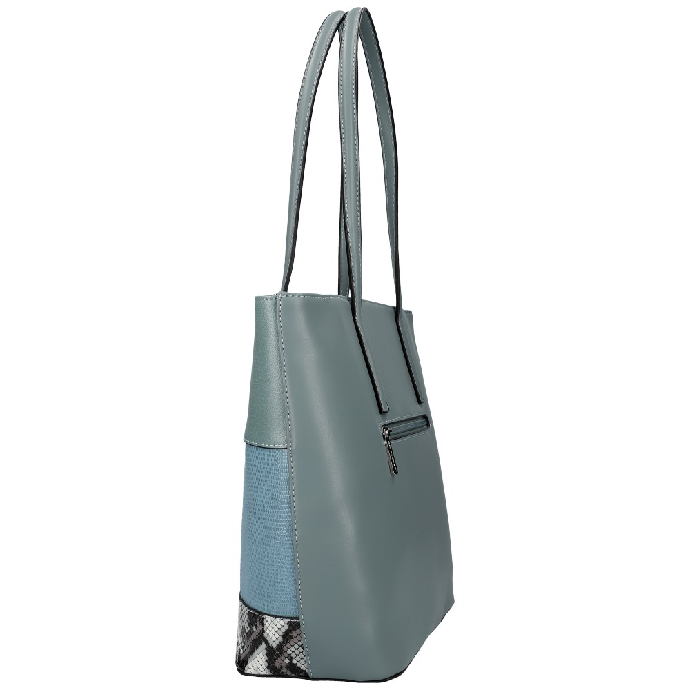 DAVID JONES Modrá veľká dámska kabelka cez rameno 6279-2