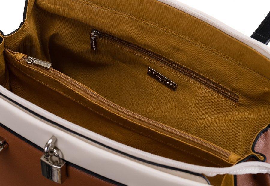 DAVID JONES Väčšia hnedá dámska kabelka cez rameno