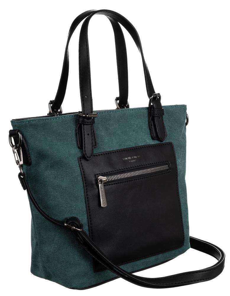 DAVID JONES Zelená menšia textilná dámska kabelka