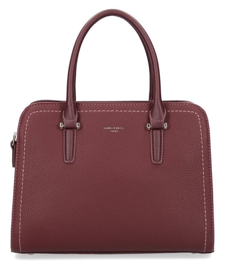 Bordová moderní dámská kabelka se třemi sekcemi David Jones