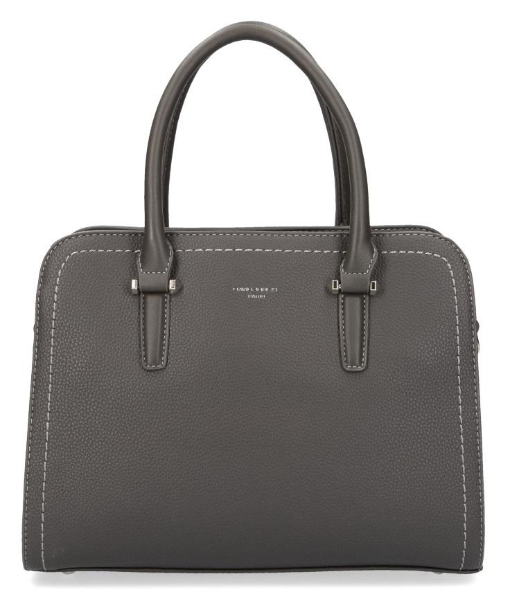 Šedá moderní dámská kabelka se třemi sekcemi David Jones CM4013