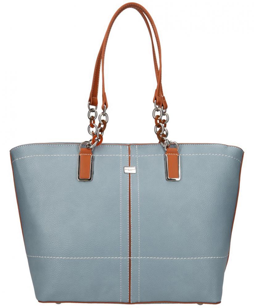 David Jones velká dámská kabelka přes rameno světle modrá