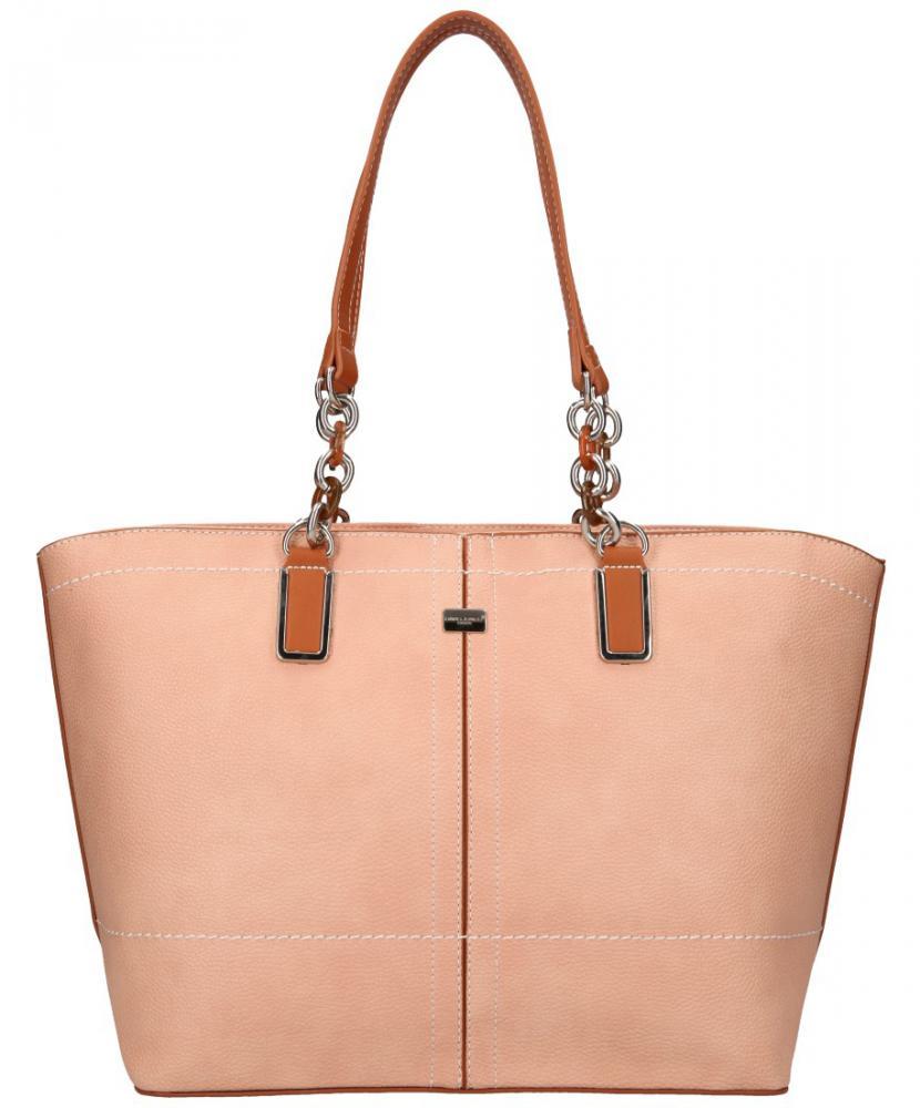 David Jones velká dámská kabelka přes rameno růžová