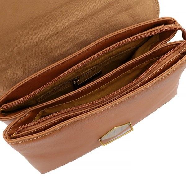 DAVID JONES Elegantná hnedá dámska kabelka do ruky CM5617