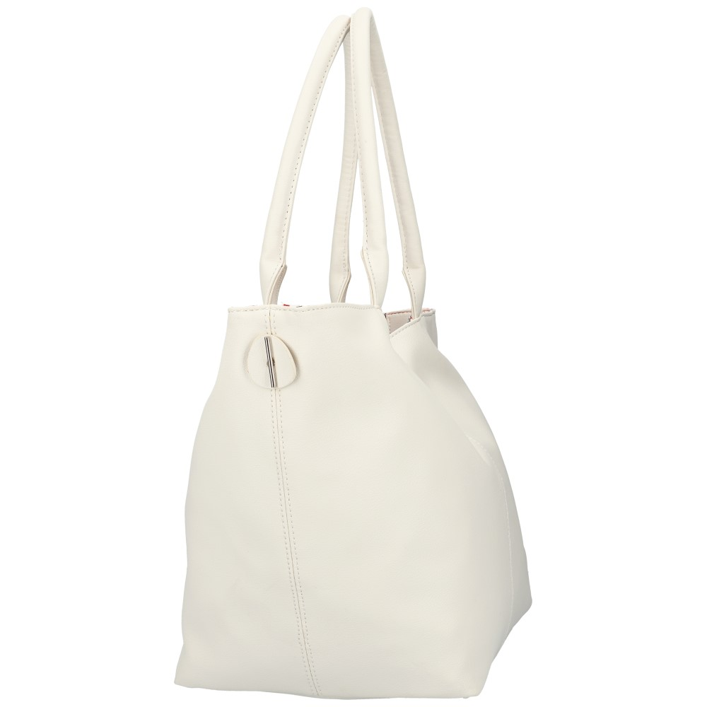 DAVID JONES Oboustranná dámská kabelka přes rameno bílá