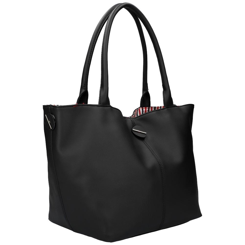 DAVID JONES Oboustranná dámská kabelka přes rameno černá